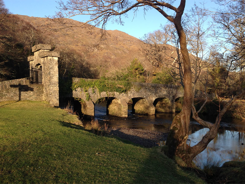 The toll bridge, entrance to Lord Brandon's Cottage, Killarney National Park