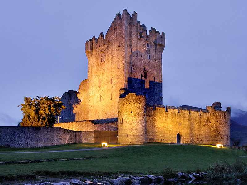 The late 15th Century Ross Castle in Killarney.