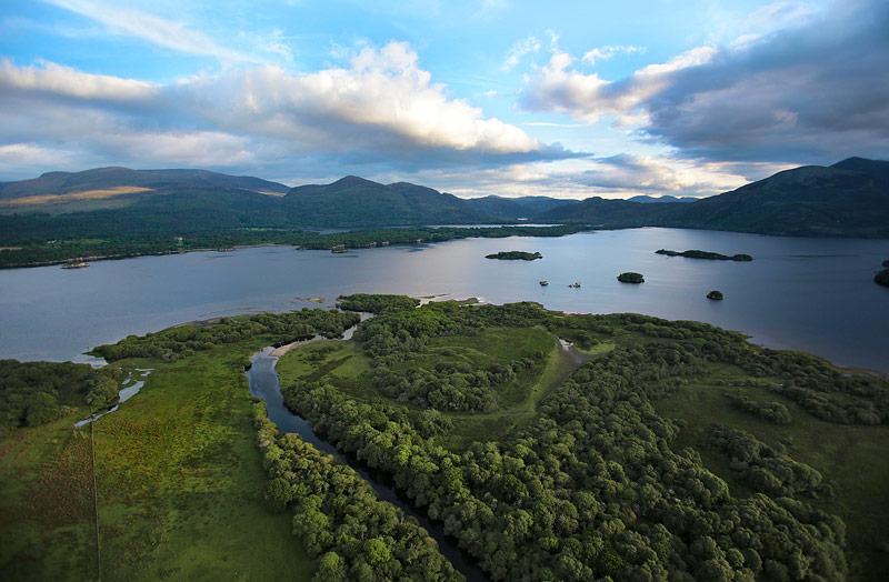 Aerial view of Cahernane, Killarney