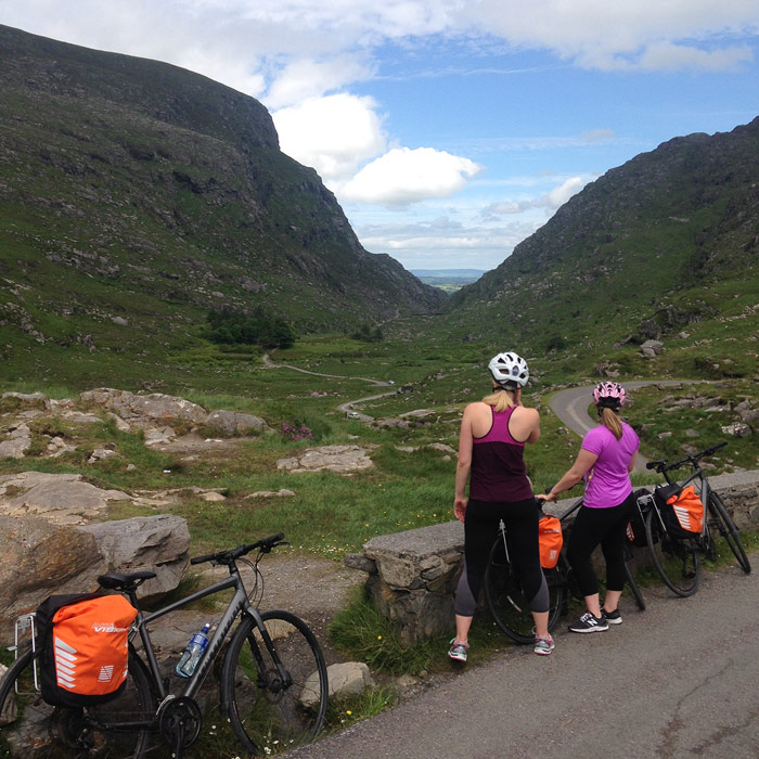 Taking a break at the head of the Gap of Dunloe