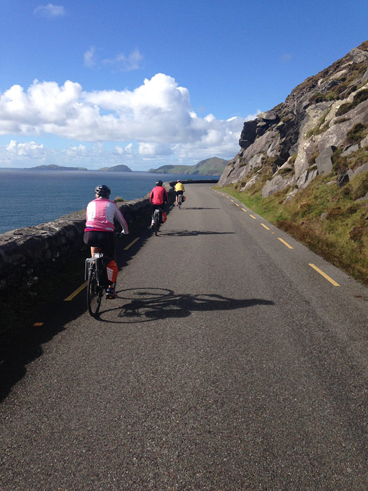 Cycling towards Slea Head on the Dingle Peninsula